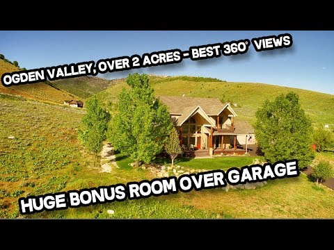 5 Bed 5 Bath Ogden Valley Home for Sale: Mountain, Valley & Lake Views (Real Estate)