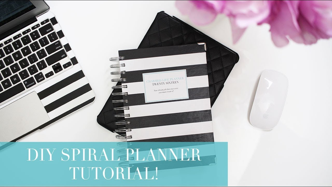 how to make your own spiral planner diy tutorial youtube. Black Bedroom Furniture Sets. Home Design Ideas