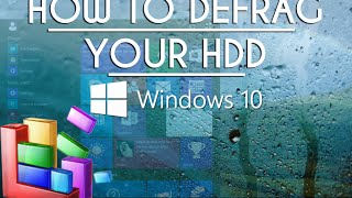 How To Defrag Windows 10 Hard Drive Beginners Tutorial