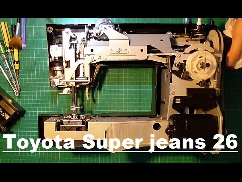 Toyota Super Jeans 40 Disassembly YouTube Custom Toyota Sewing Machine Reviews