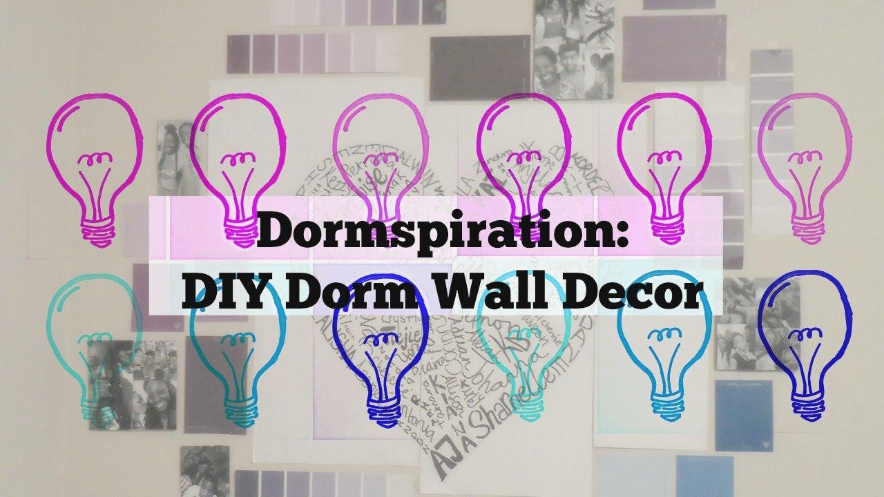 Diy Dorm Room Wall Decor Idea Youtube
