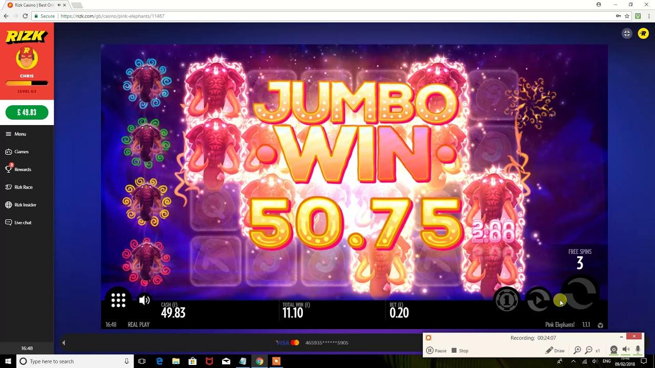 Pink Elephants Online Spilleautomat - Rizk Casino