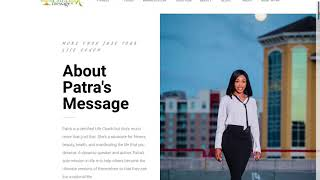 Wordpress Revamp Design for Patra's Message
