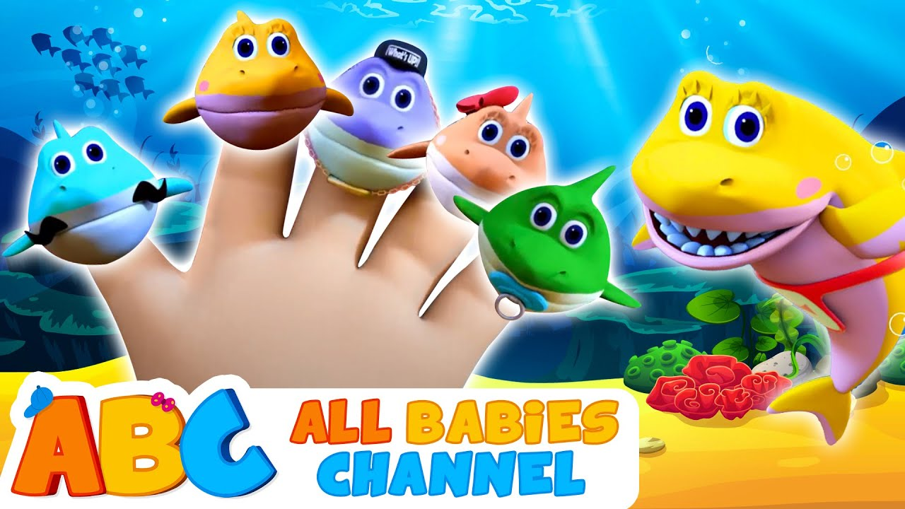 Shark Finger Family | Kids Songs And More | All Babies Channel