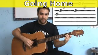 Tutorial: Going Home - Fingerstyle Arrangement w/ TAB (aka Wild Theme by Mark Knopfler)