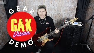 gak demo ibanez jem77wdp steve vai signature electric guitar charcoal brown low gloss