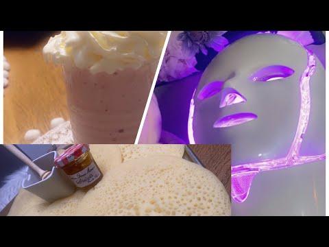 masque-led-et-recette-crêpe-mille-trous-ماسك-و-بغرير-لذيذ