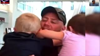 Precious Moments Funny Babies Reaction to Dad Coming Home  Funny Babies video