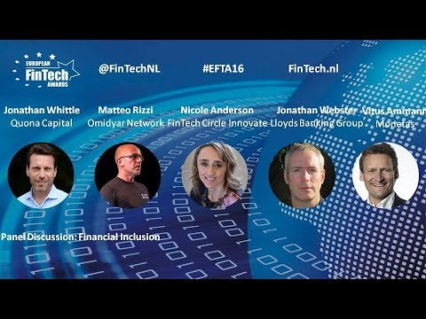 Financial Inclusion panel discussion at European FinTech Awards & Conference 2016 Amsterdam