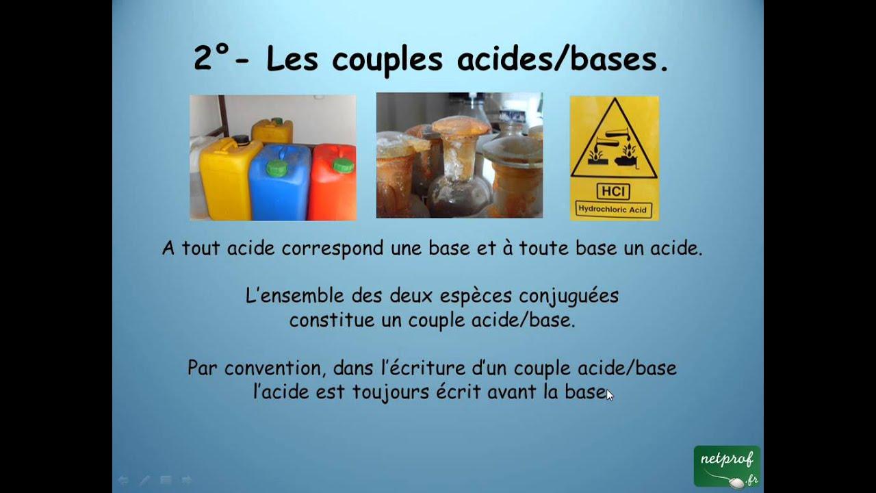 Chimie 1 s les acides et les bases youtube - Acide chlorhydrique utilisation ...