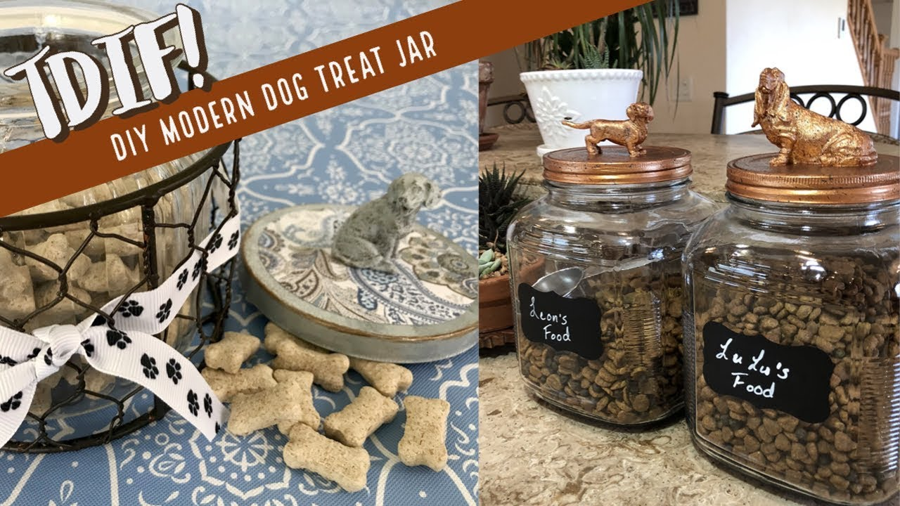 Diy Modern Dog Treat Jar We Heart Hounds