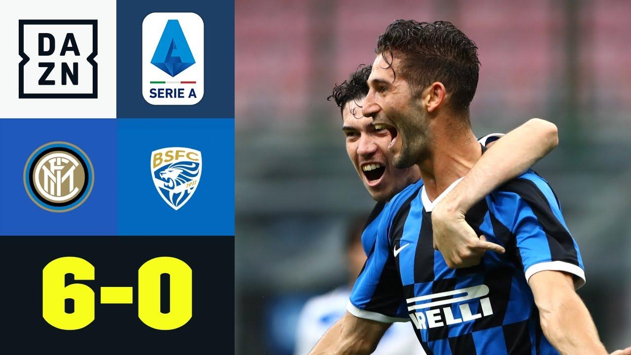 Sechs Tore, sechs Schützen! Nerazzurri gnadenlos: Inter Mailand - Brescia 6:0 | Serie A | DAZN