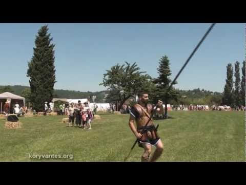"KORYVANTES: Demonstration of Sarissa use on ""GALLO-ROMAN"" Festival 2012"