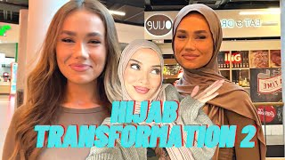 NON HIJABIS TRYING TΗE HIJAB FOR THE FIRST TIME! PART II