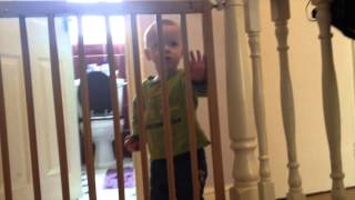 Wooden Extending Stair Gate Child Safety Improvement Tip