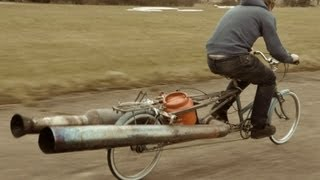 One of colinfurze's most viewed videos: The JET Bicycle - The most dangerous unsafe bike EVER