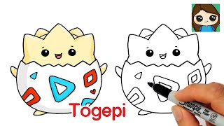 How to Draw Pokemon EASY Chibi #2 | Baby Togepi