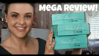Beauty Box 5 MEGA Review! March, April AND May Boxes! Jen Luv