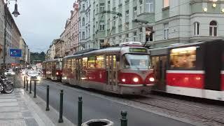 Tatra T3 Tram in Prague / Tramvaj Tatra T3 v Praze.