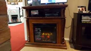 ClassicFlame 23DE1447-O107 Corinth Fireplace TV Stand - product overview