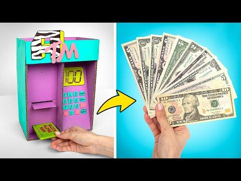 Как сделать потрясающий банкомат из картона