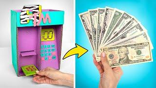 как сделать банкомат своими руками видео из картона