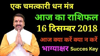 16 December |Aaj Ka Rashifal | एक चमत्कारी धन मंत्र | Daily Rashifal | Best Remedy
