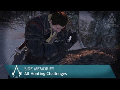 Assassin's Creed: Rogue - Side Memories - All Hunting Challenges