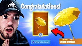 SO you get the FREE GOLD GLEITER in Fortnite !