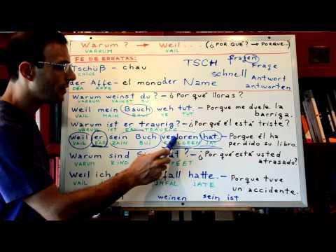 Aprender Aleman 09: Warum - Weil / Por qué? - Porque