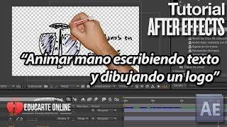 Animar mano escribiendo texto y dibujando logo - Tutorial After Effects