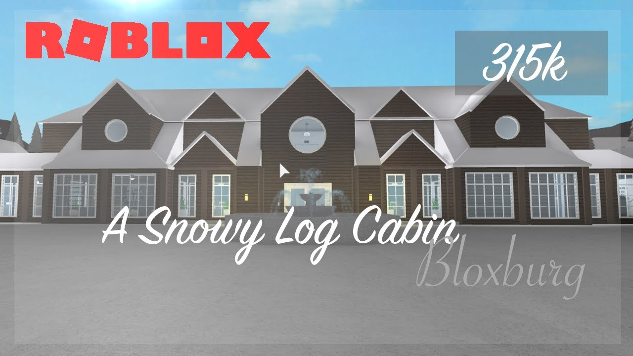 Snowy Home Roblox Awesome Winter Log Cabin Tour On Bloxburg Roblox Youtube