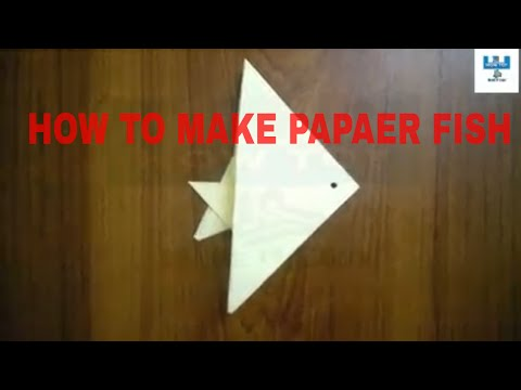 DIY || How To || Make || Origami || Paper Fish || Very easy || and || Simple || Paper Crafts