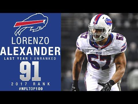 #91: Lorenzo Alexander (LB, Bills) | Top 100 Players of 2017 | NFL