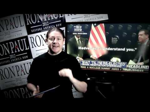 Ron Paul FLIX Daily News - March 26 2012 - Santorum's Bullsh*t \u0026 Obama's Hot Mic