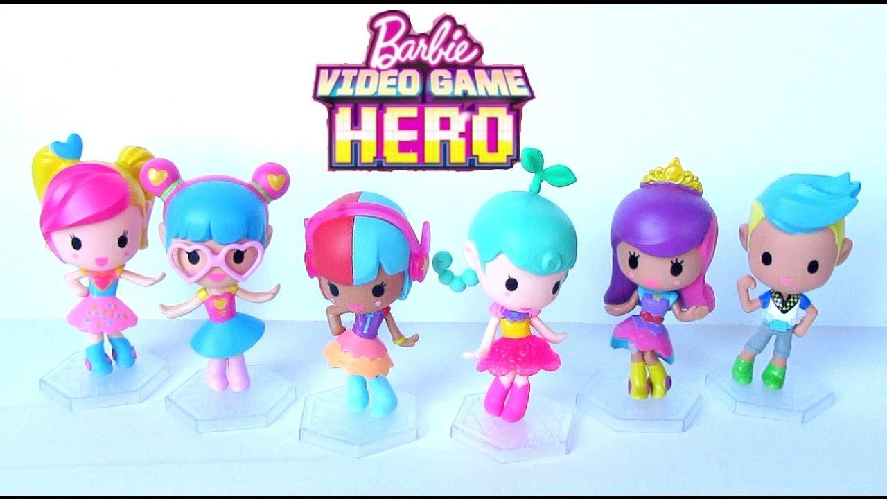 Barbie Video Game Hero Vinyl Figures Collection Opening