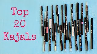Top 20 Kajal Pencils - Haul, Reviews, Swatches | Shruti Arjun Anand