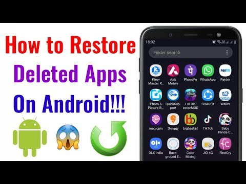 How To Restore Deleted Apps In Android??