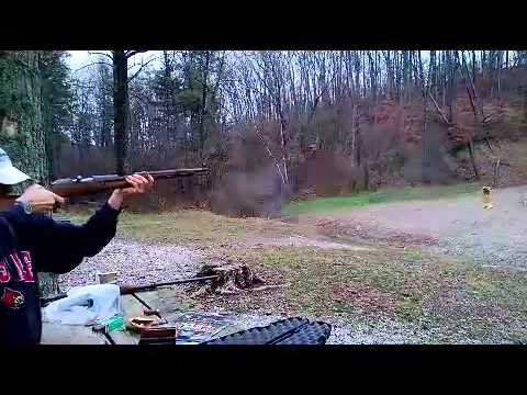 Shooting a few rounds with a 7.62x54 Mosin Nagant