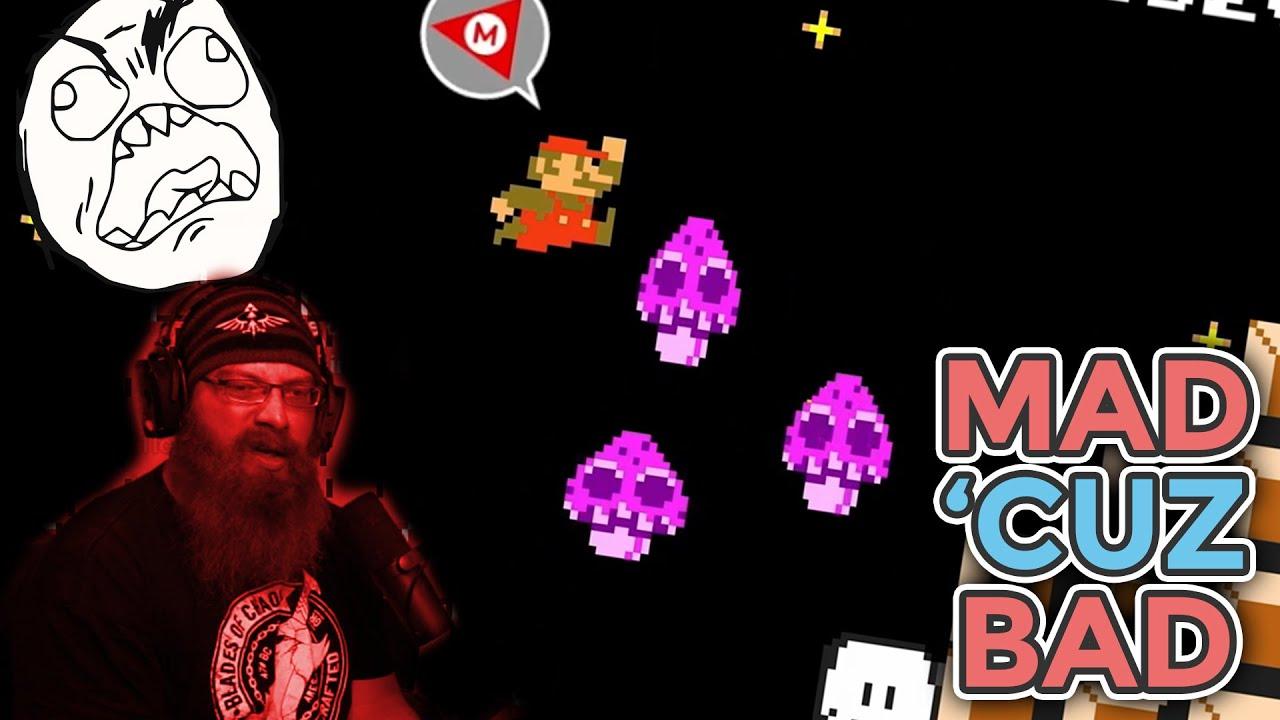 MAD 'CUZ BAD!   Super Mario Maker 2 - Expert No Skip Challenge with Oshikorosu [35]