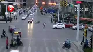 Drunk driver smashes bicycle rider, then takes down traffic cop | Liveleak , BBC, ANTV