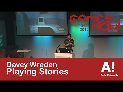 Davey Wreden: Playing Stories - Aalto University Games Now! -lecture series