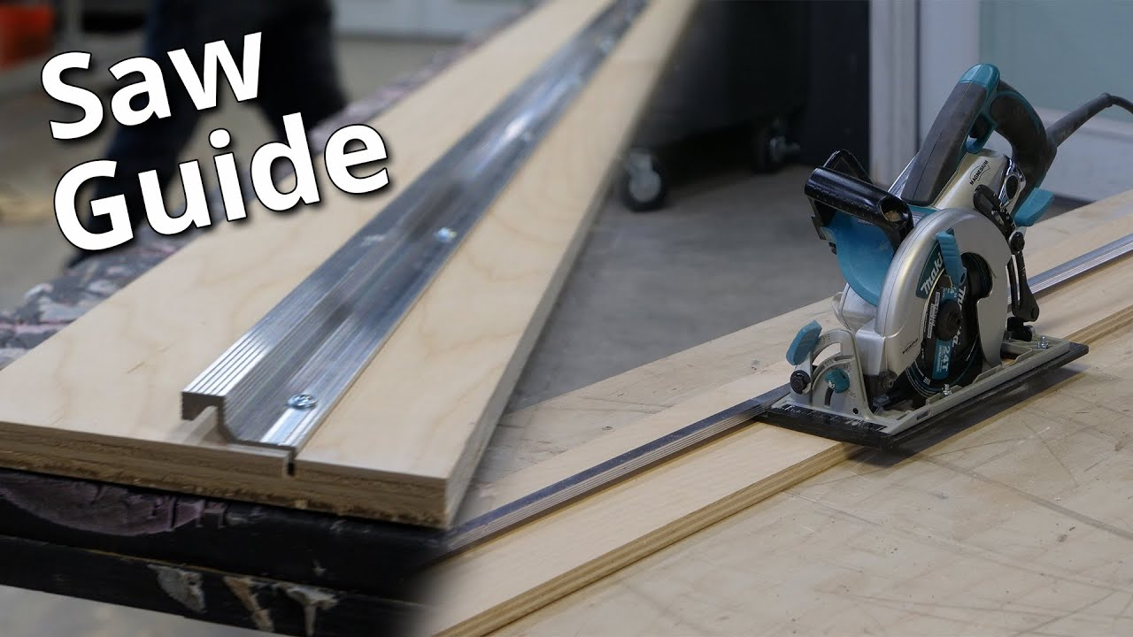Perfect Plywood cuts, Straight Cut Saw Guide | Stone Coat Epoxy
