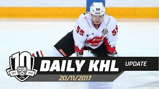 Daily KHL Update - November 20th, 2017 (English)