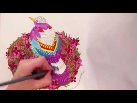 Millie Marottas Wild Savannah Colouring Book Flip Through
