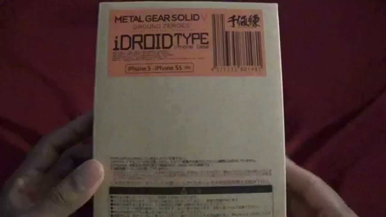 cheaper 14994 7479b Metal Gear Solid 5 Ground Zeroes iDroid Case for iPhone 5/5S English  Unboxing/Review