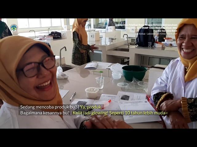 Pelatihan Kimia Terapan berbasis KWU bagi Guru-Guru MGMP Kimia MA Provinsi Sumatera Barat