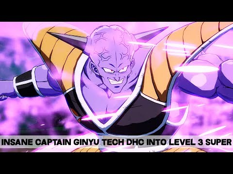 Dragon Ball FighterZ - INSANE Captain Ginyu Tech/Glitch! (Milky Cannon DHC Into Level 3 Super)