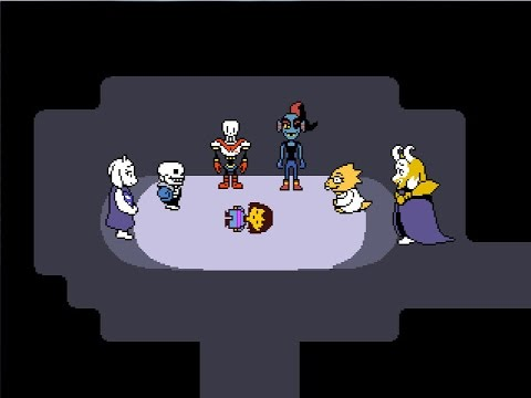 Undertale Talking To Everyone After Final Boss