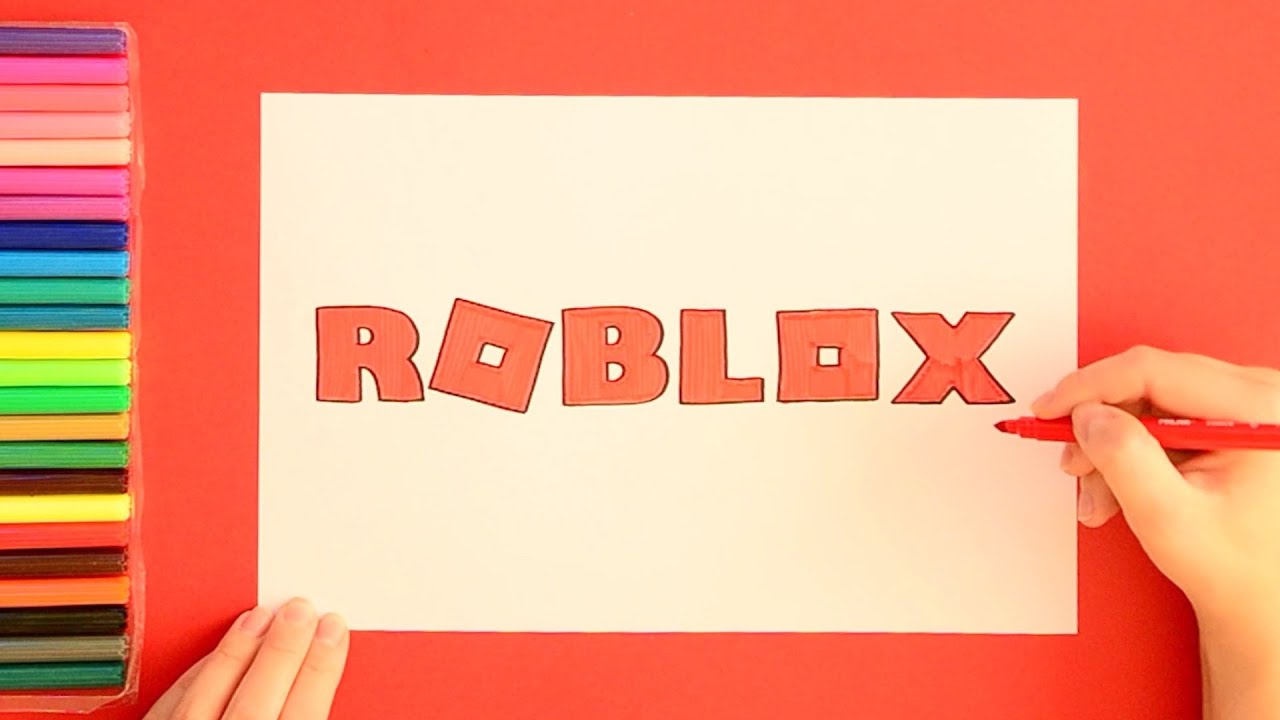 How To Draw Roblox Logo Youtube